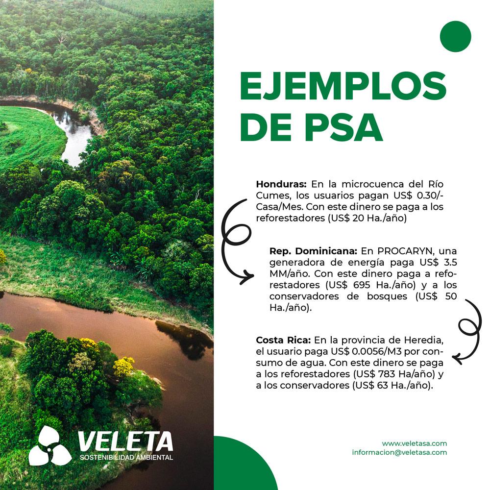 PSA, Pagos por servicios medioambientales